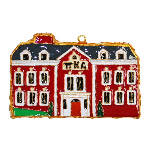 Kitty Keller Pi Kappa Alpha House Ornament