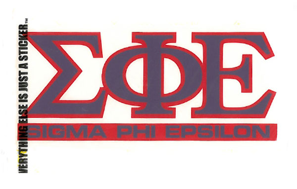 Sigma Phi Epsilon Decal