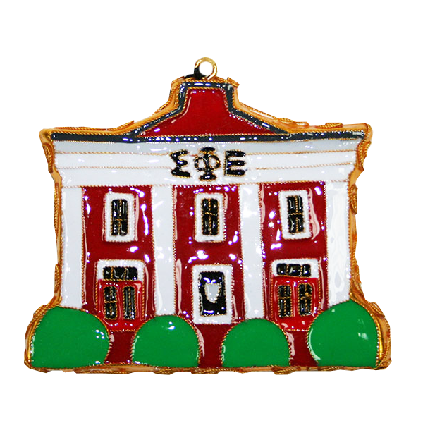 Kitty Keller Sigma Phi Epsilon House Ornament