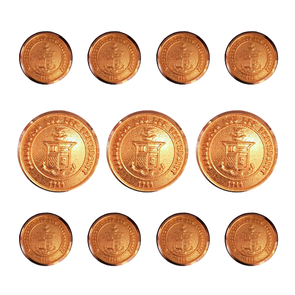 Crest Blazer Button Set, Gold