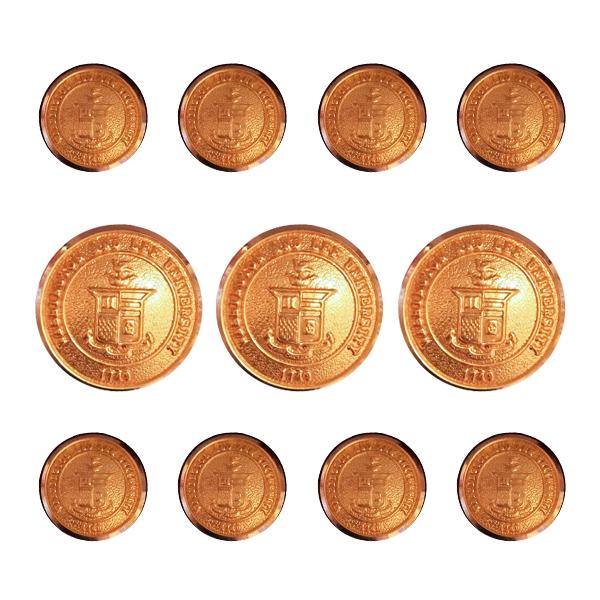 Crest Blazer Button Set, Gold