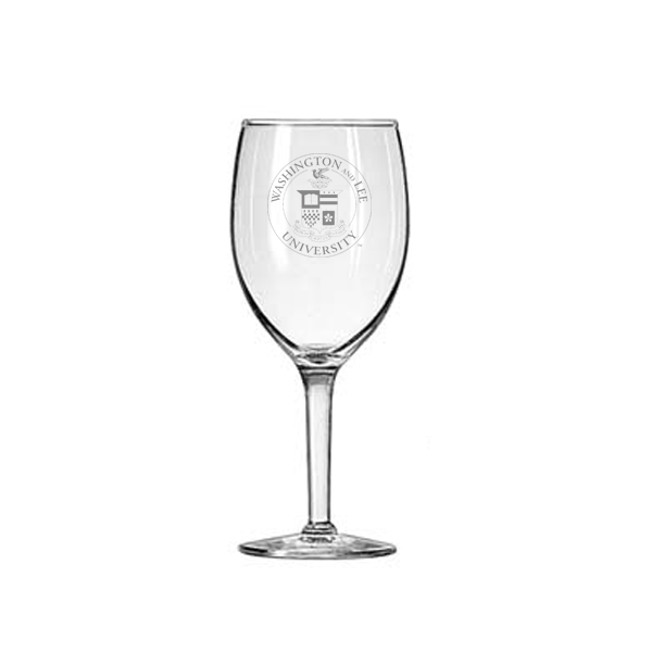 Small Wine Glass with Crest 8 oz