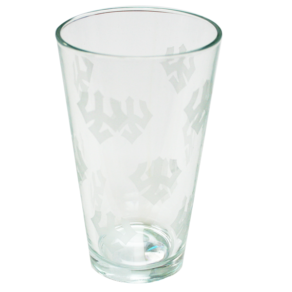 """All-Over Tridents"" Pint Glass"