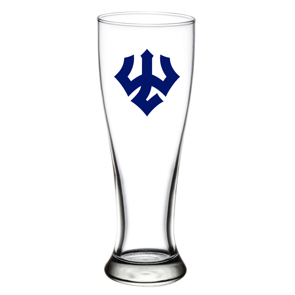 Pilsner Glass with Trident 23oz
