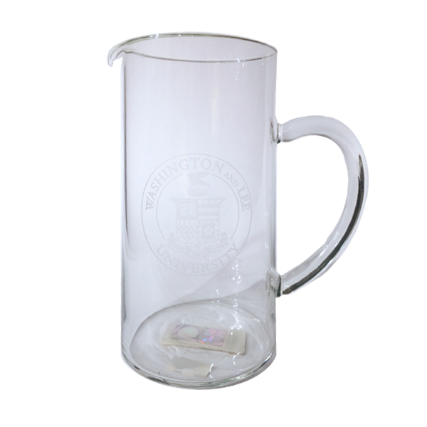 Glass Pitcher with Crest Design 43 oz