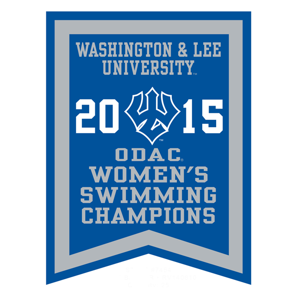 2015 ODAC Women's Swimming Banner