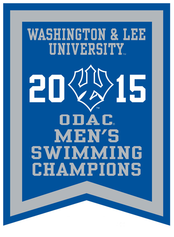 2015 ODAC Men's Swimming Banner