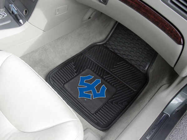 Two Car Mats with Trident
