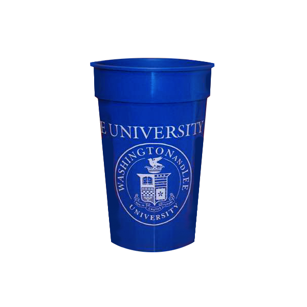 Classic Stadium Cup with Crest 22 oz, Royal or White