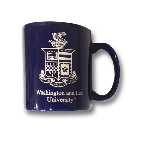 Etched Crest Mug, Cobalt