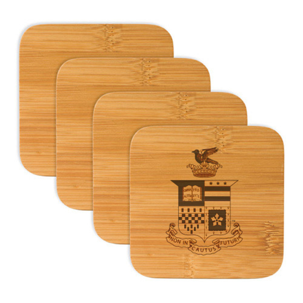Bamboo Crest Coasters Set of 4