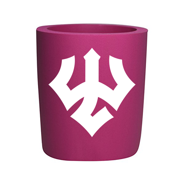 Foam Koozie with Trident, Pink