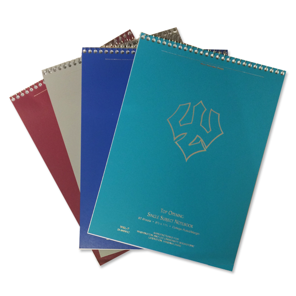 Flip-Top One Subject Spiral Notebook, Assorted Colors