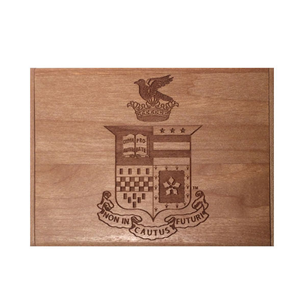 Business Card Holder with Crest