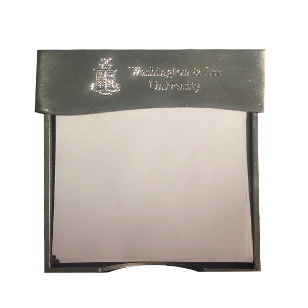 Salisbury Pewter Note Holder with Crest