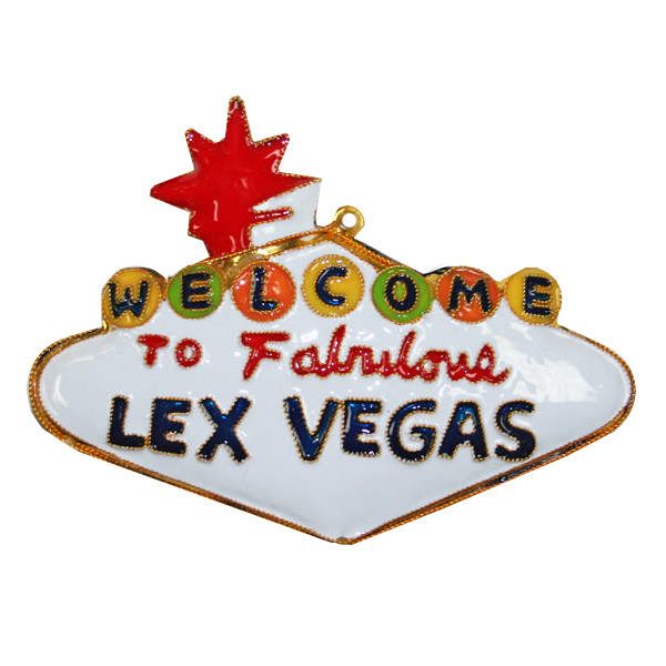 Kitty Keller Cloisonne Lex Vegas Ornament
