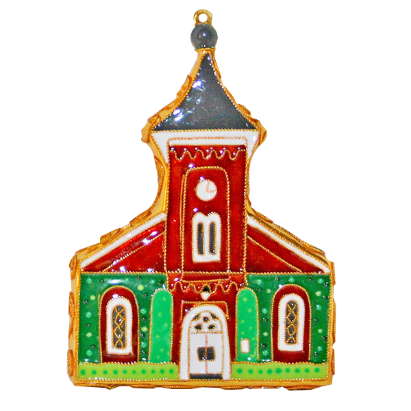 Kitty Keller Cloisonne Lee Chapel Ornament