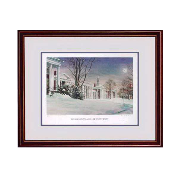 Keeling Snowfall Under Moonlight Print, Small