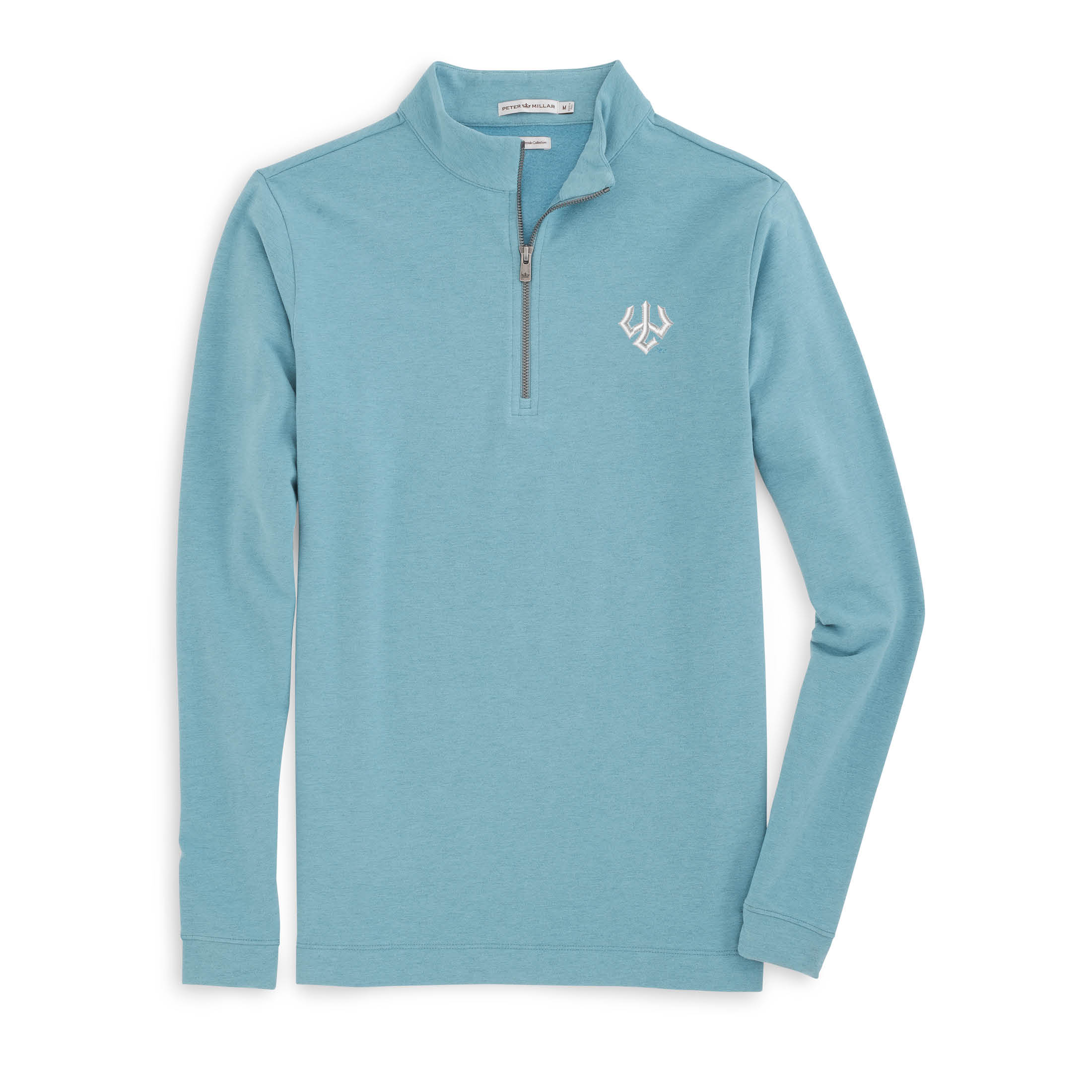 Peter Millar 1/4 Zip Elk Alpaca, Blue Ridge