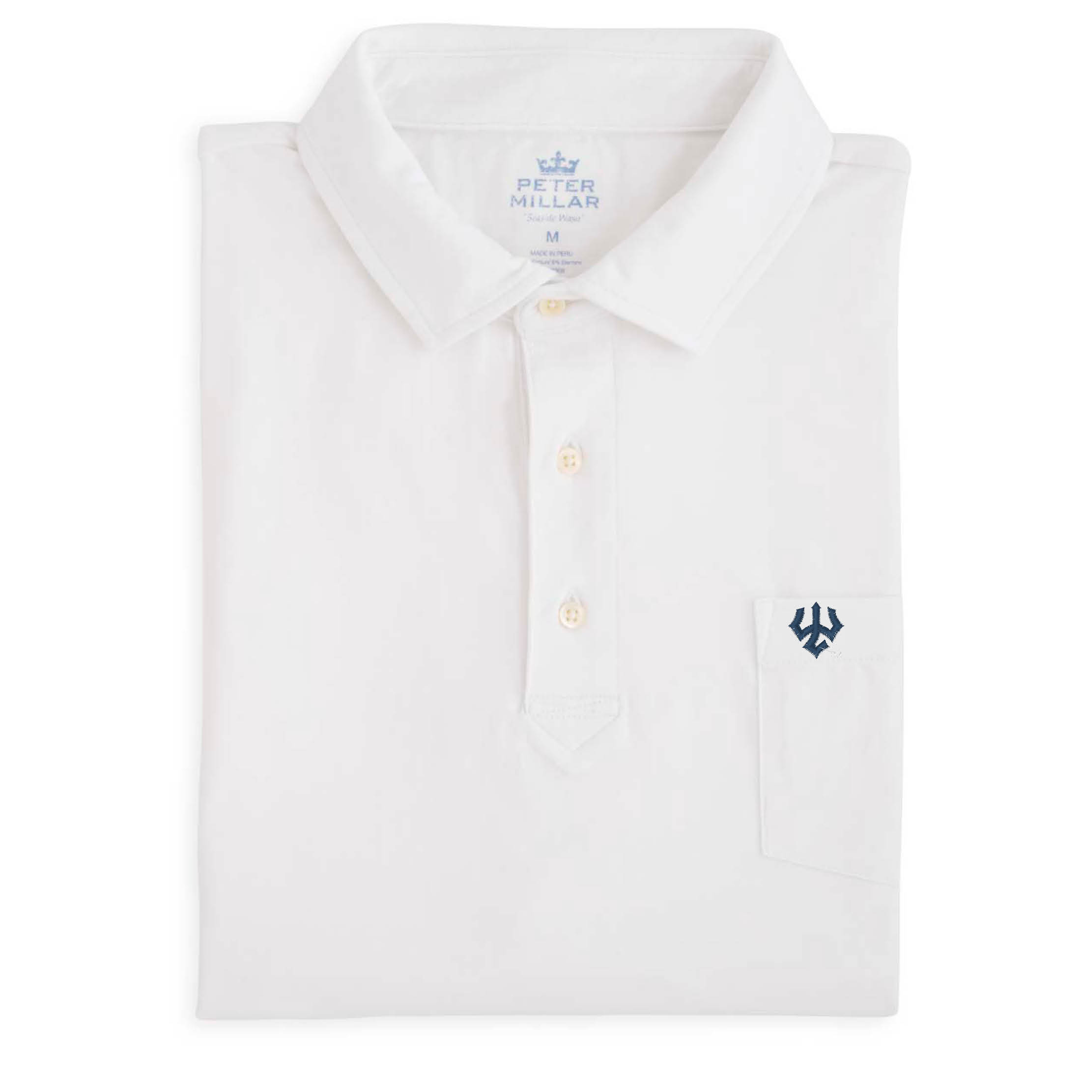 Peter Millar Polo, Seaside Wash White