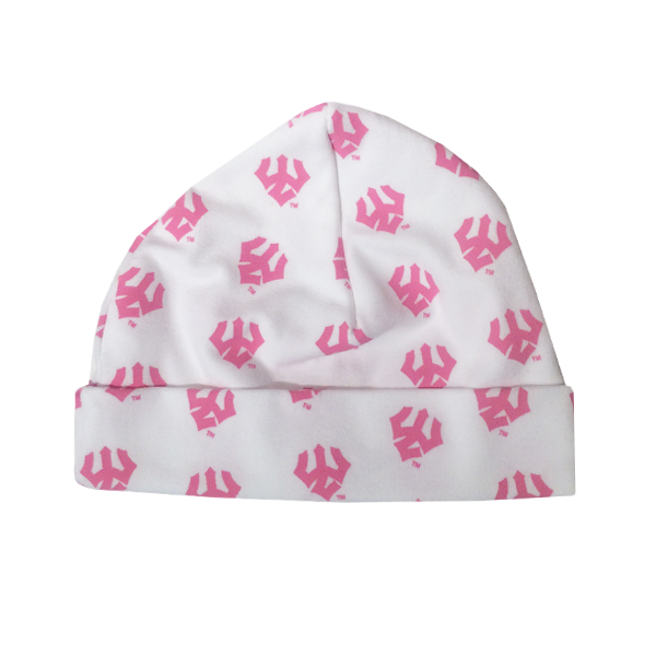 Infant Trident Beanie, Pink Tridents