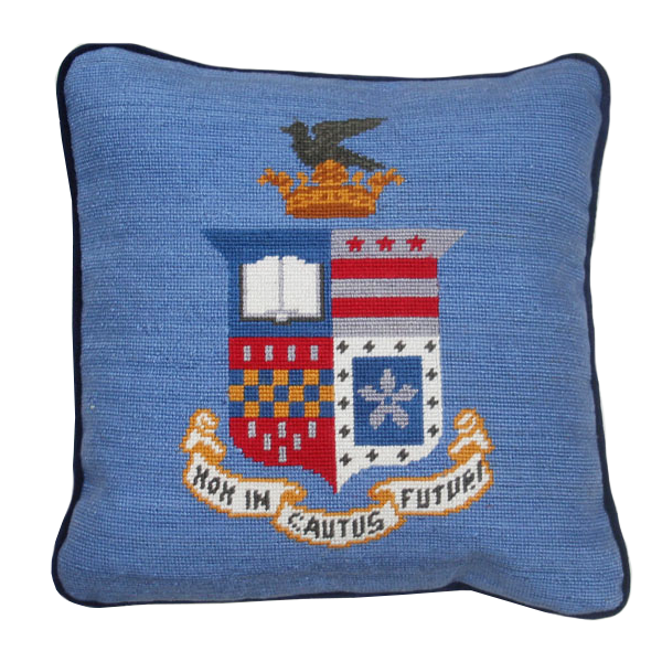 Smathers & Branson Crest Pillow, Royal