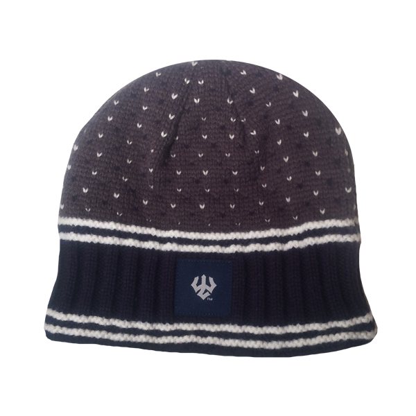 Dot Pattern Knit Beanie
