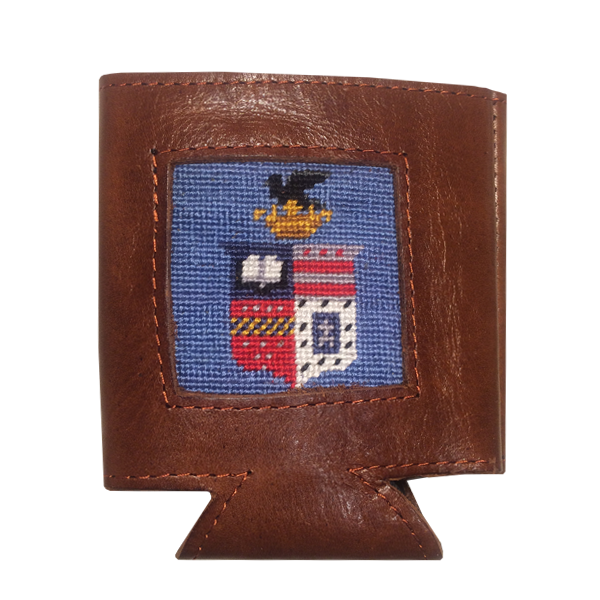 Smathers & Branson Leather Coozie, Crest
