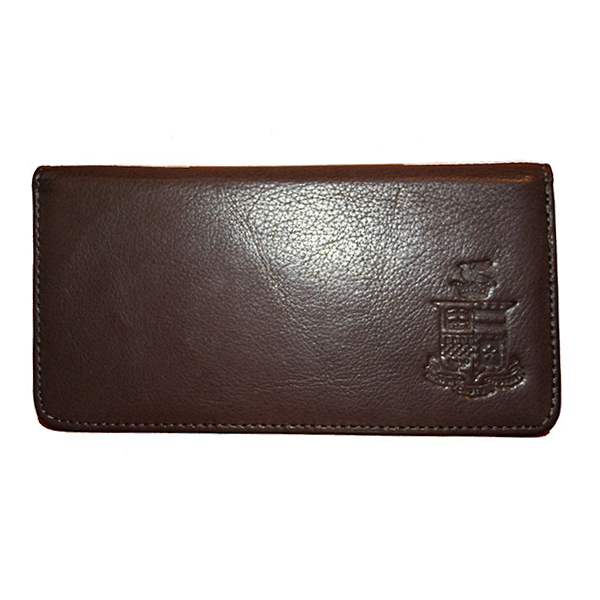 Canyon Leather Checkbook Cover, Crest