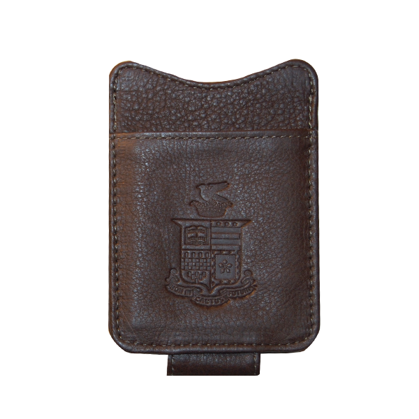 Canyon Leather Money Clip, Crest