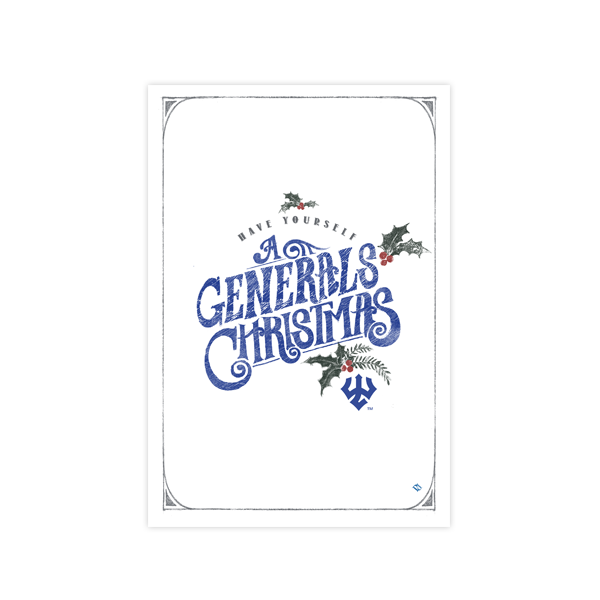 Generals Christmas Card