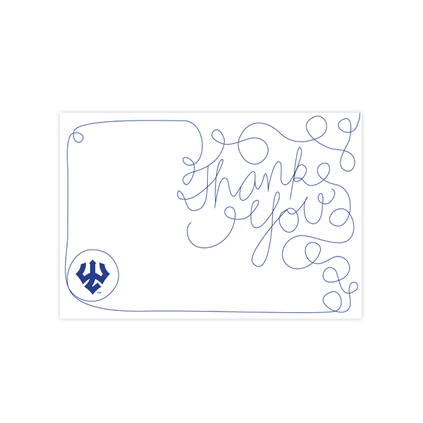 Squiggle Thank You Card