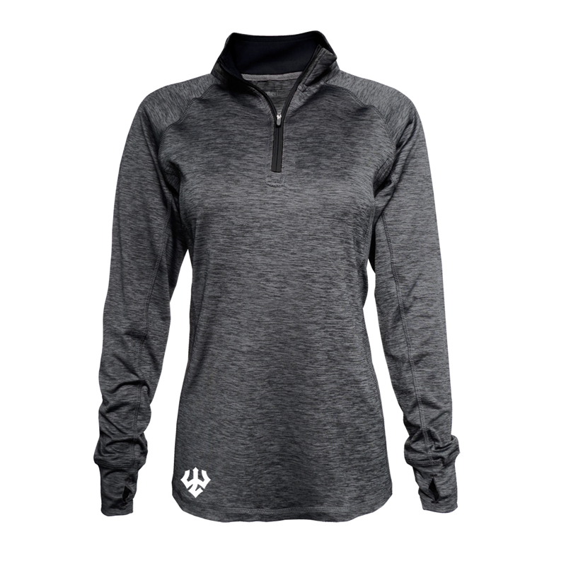Spacedyed 1/4 Zip, Charcoal
