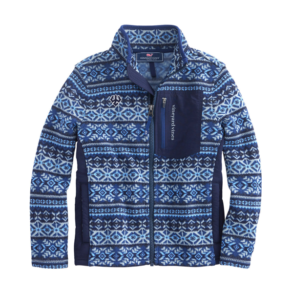 Vineyard Vines Fair Isle Fleece Full-Zip