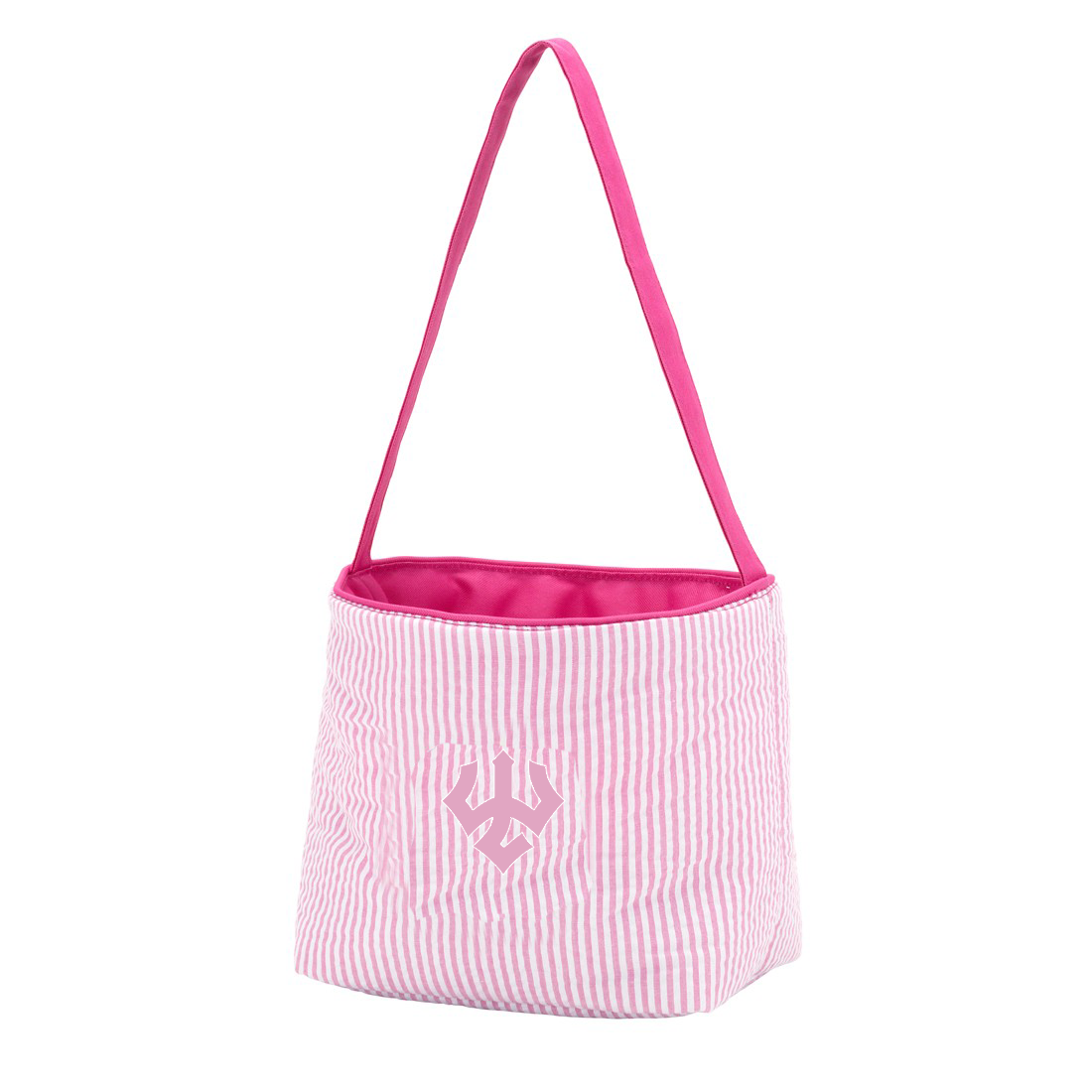 Seersucker Bucket Tote, Pink