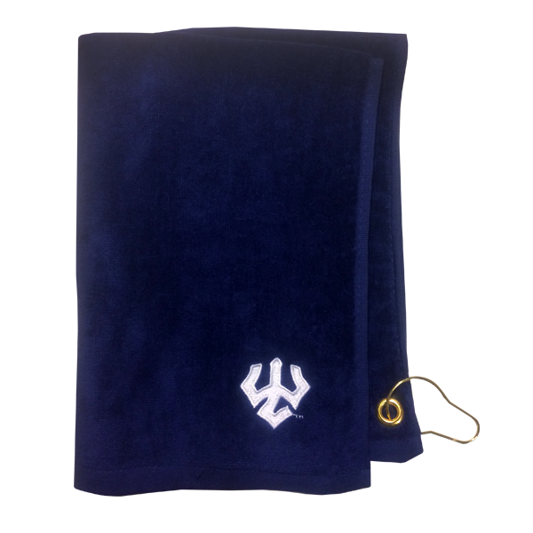 Golf Towel with Trident, Navy