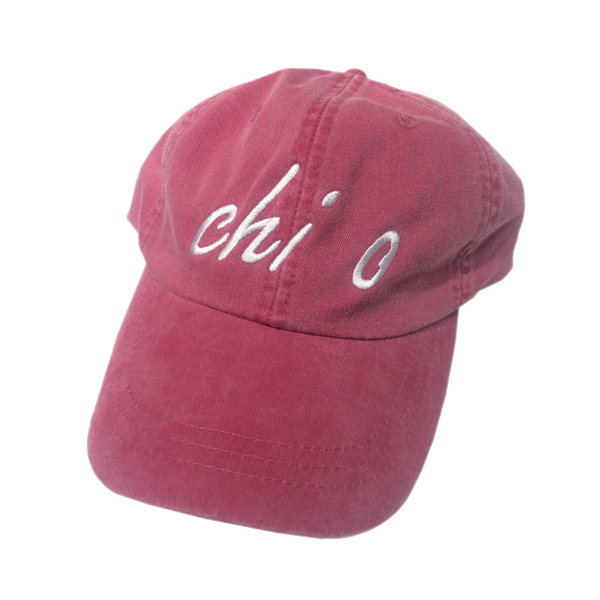 Chi Omega Hat, Red