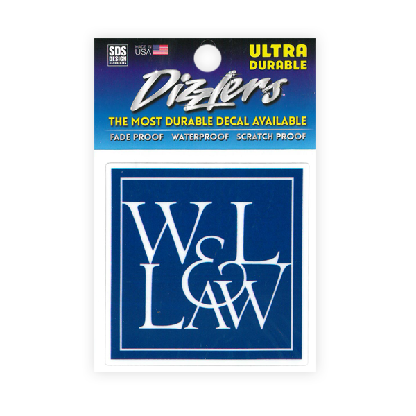Dizzler Law Logo Decal