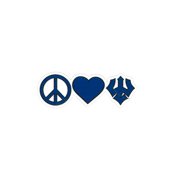 Dizzler Peace Heart & Trident Decal