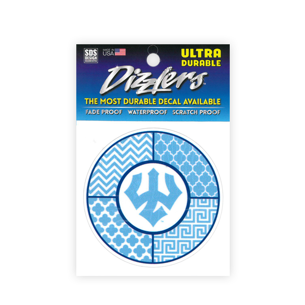 Dizzler Sorority Lt. Blue/White Trident