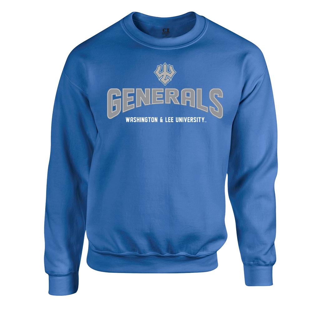 Embroidered Crew Sweatshirt, Royal