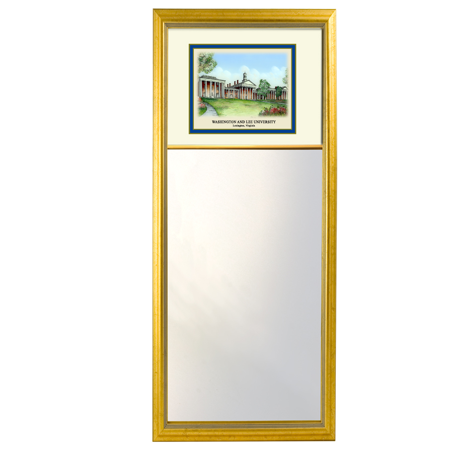 Eglomise Mini Mirror with Colonnade