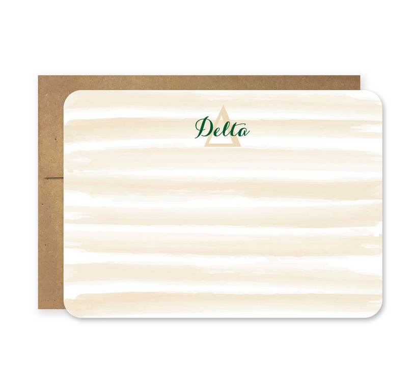 Die Cut Delta Stationery