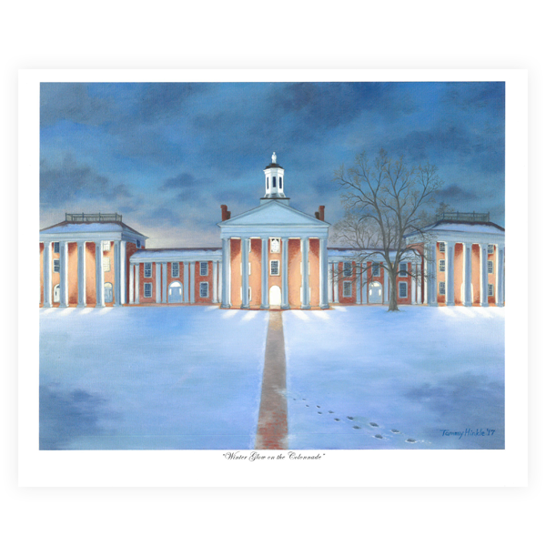 """Winter Glow on the Colonnade"" 11x14 Print w/Foam Board"