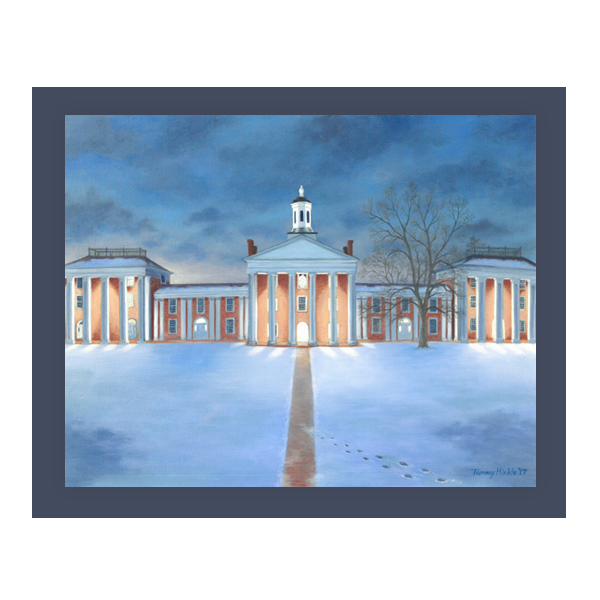 """Winter Glow on the Colonnade"" 11x14 Print"