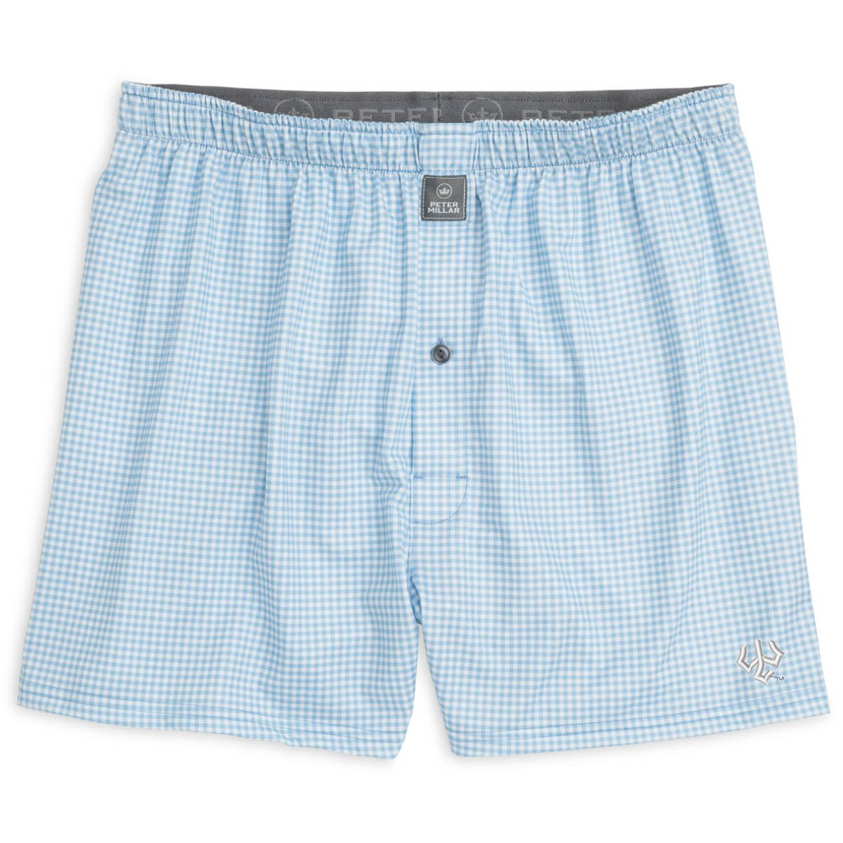 Peter Millar Gingham Check Stretch Jersey Boxer
