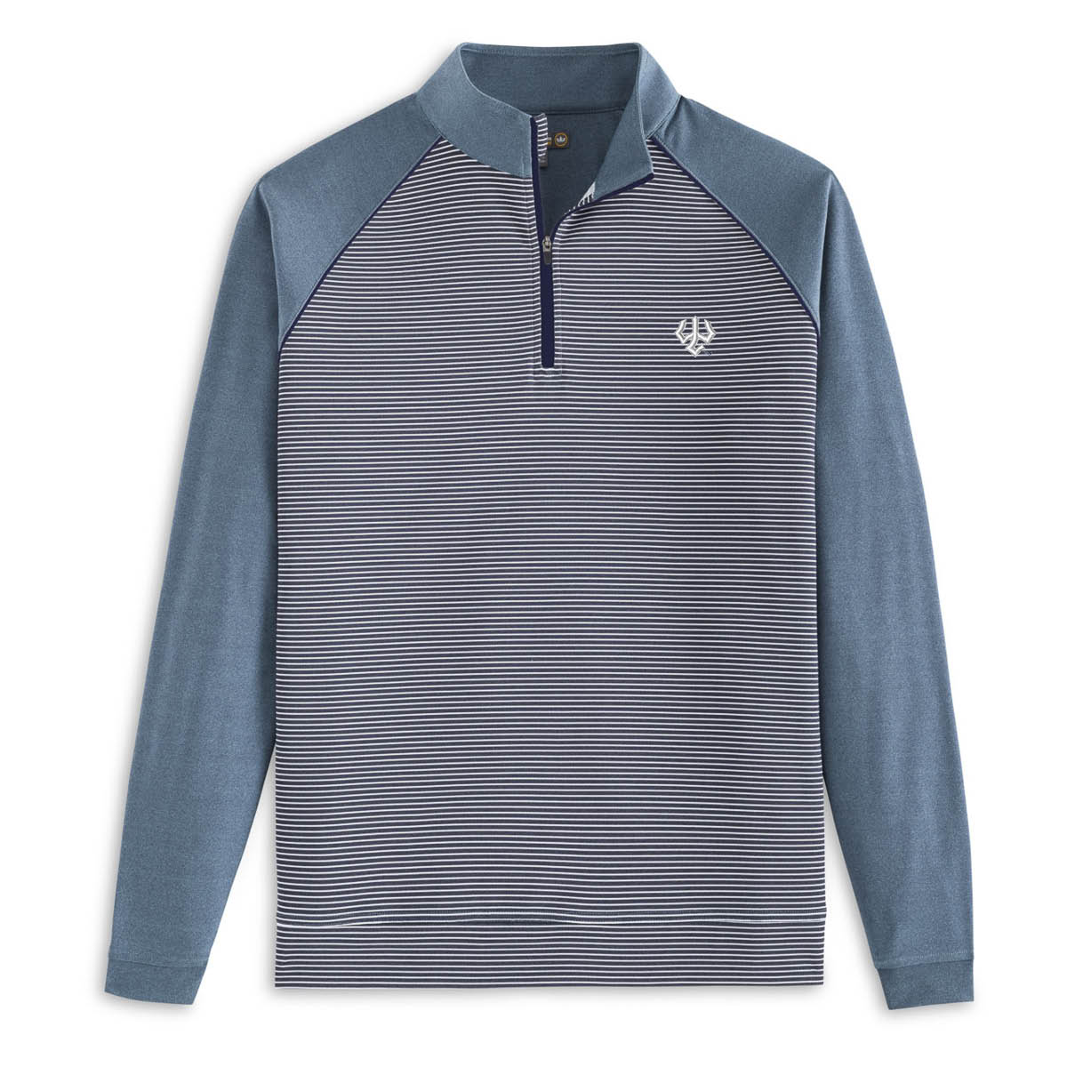 Peter Millar Loop Terry Raglan Sleeve Stripe 1/4 Zip