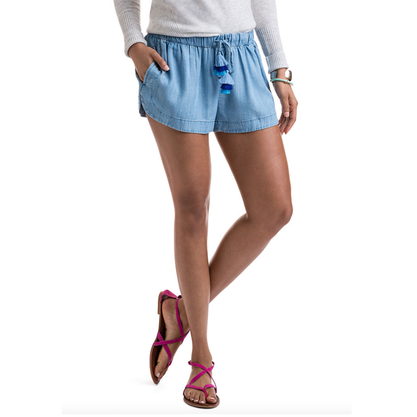 Vineyard Vines Chambray Pull On Shorts