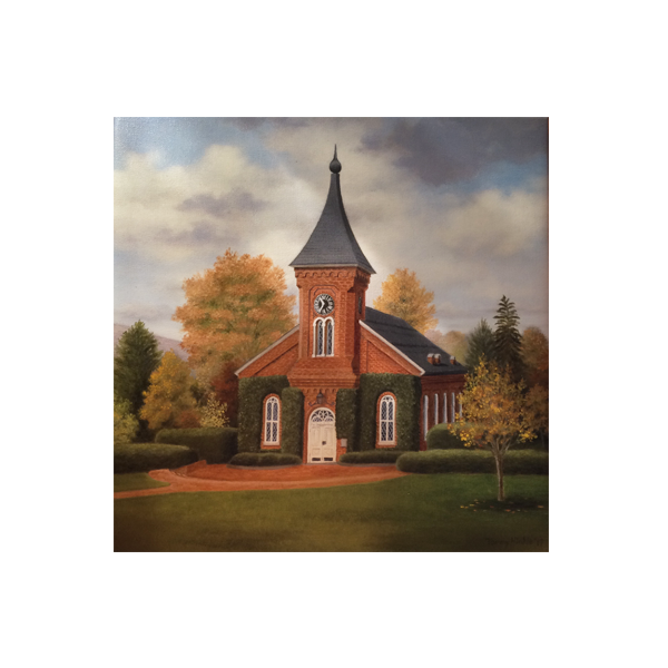 Lee Chapel Wrapped Canvas Print 12x12