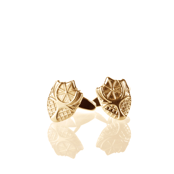 Lee Chapel Cufflinks by Kyle Cavan, Gold